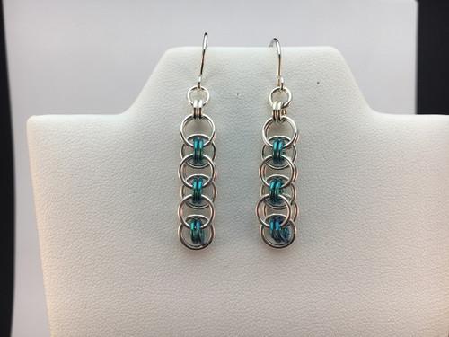 Helm link earrings (with Niobium)