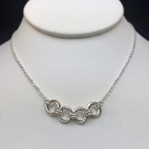 Argentium Mobius link necklace