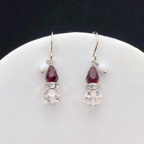 Swarovski Santa Hat earrings
