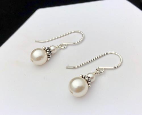 Swarovski crystal pearl and Sterling beadcaps