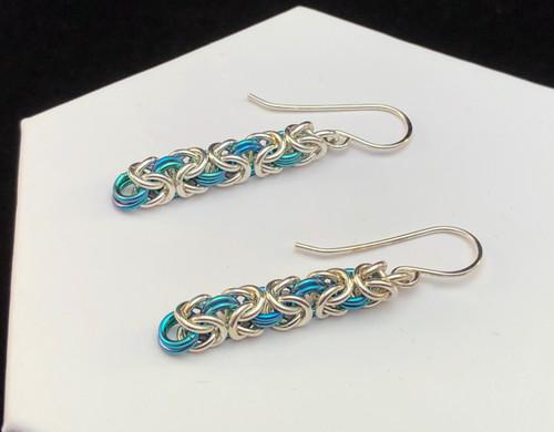 Byzantine and Anodized Niobium earrings