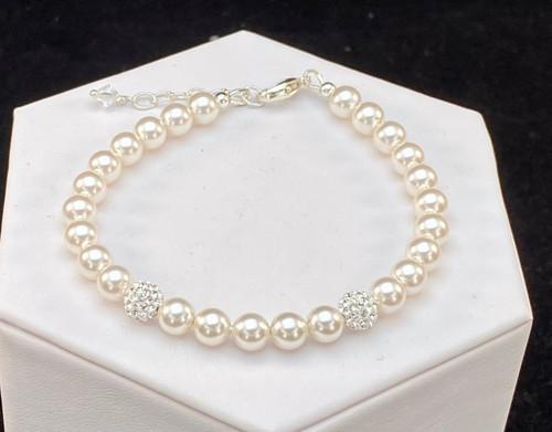 Swarovski Crystal Pearl and Pave Bracelet