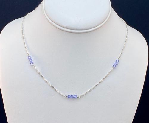 Swarovski crystal cluster necklace