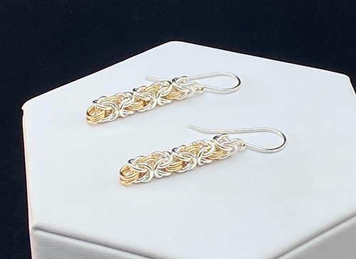 Argentium & 14KT Gold-filled Byzantine earrings