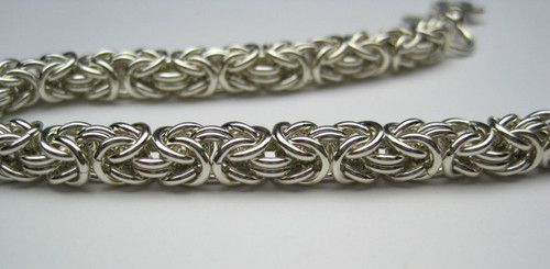 Argentium Byzantine bracelet
