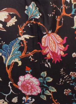 Arabella Black Girls Kimono/Robe Dressing Gown