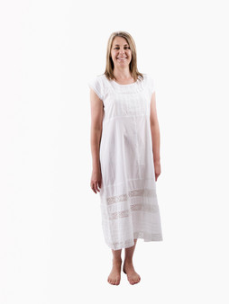Pretty nightdress with butterfly sleeves and embroidered detailing.