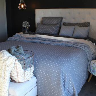 Cross Inspired Light Blue Quilt Bedspread Set of 3