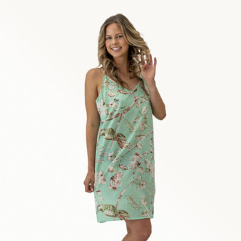 Blossom Mint Slip Dress