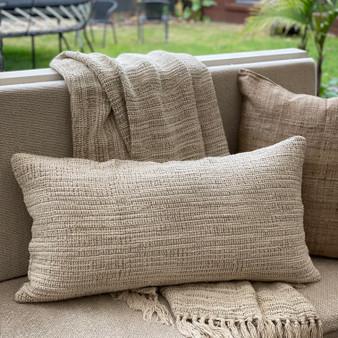 Bergen Ombre Stonewashed Linen Cushion Cover 40 x 80 cm