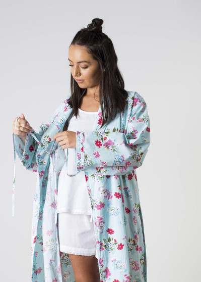 Ariana Blue Floral Robes