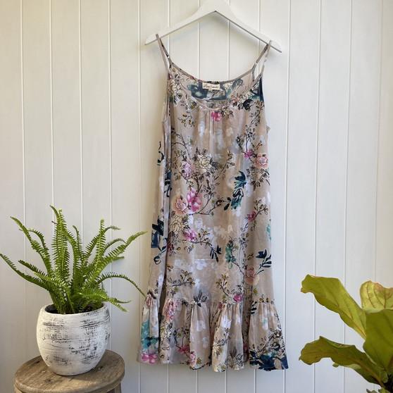 Carma Frilled Hem Slip Dress