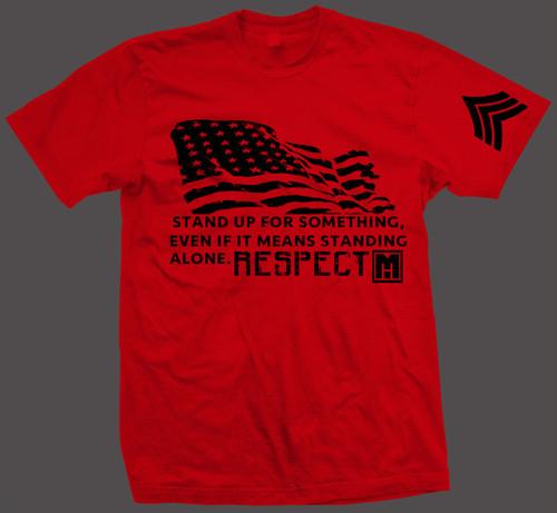 RED RESPECT FLAG