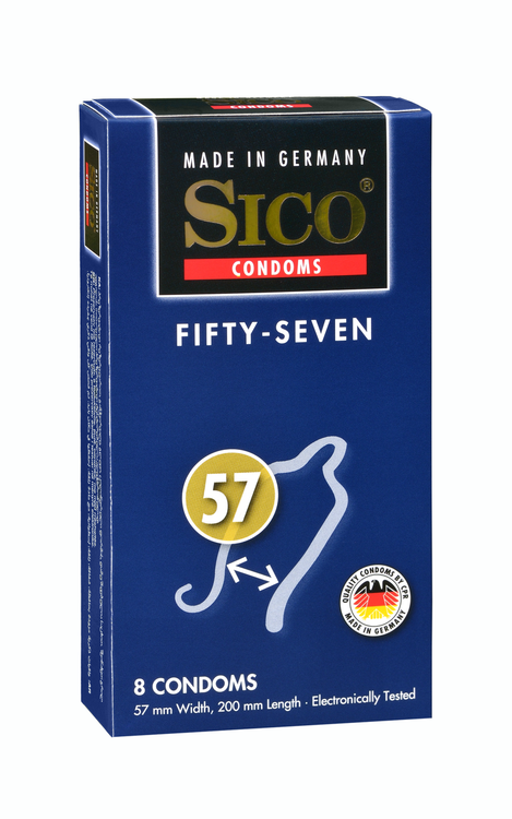 SICO Safety Size 57 (8pc box) Condoms