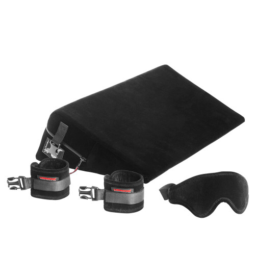 Liberator Black Label Wedge (Black) with Handcuffs and Blindfold