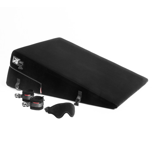 Liberator Black Label Ramp (Black) with handcuffs and blindfold