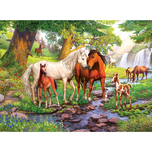 Horses By the Stream 300 piece