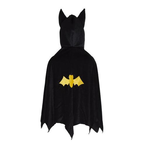 Bat Cape With Hood, Black, Size 5/6