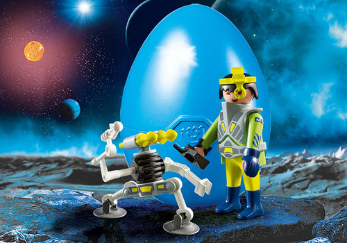 Easter Egg Space Agent With Robot