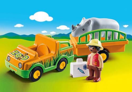 Zoo Vehicle With Rhinoceros 1,2,3