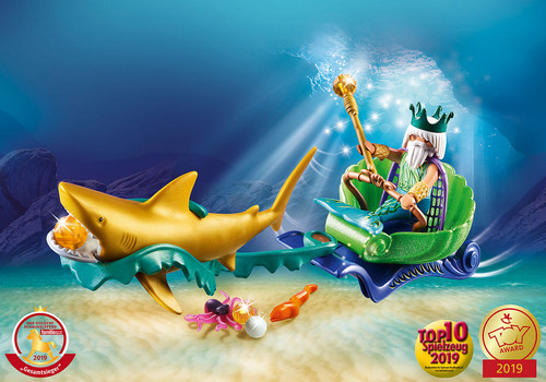 King of the Sea With Shark Carriage