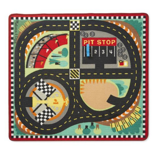 Round The Speedway Race Track Rug and Car Set