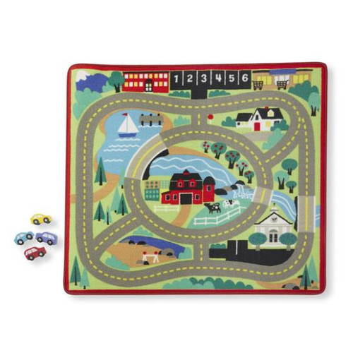 Roung The Town Road Rug and Vehicle Set