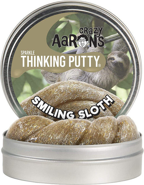 Smiling Sloth Sparkle Putty