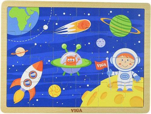 Space Travel Wooden 24 piece Puzzle