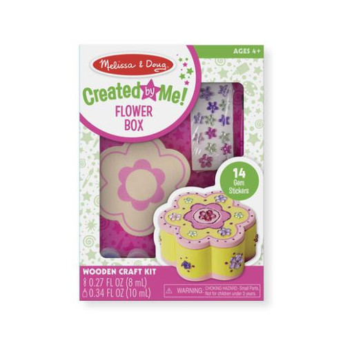 Created By Me!  Wooden Flower Box Craft Kit