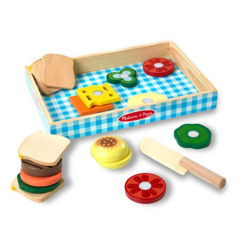 Wooden Sandwich Making Play Set 17pc