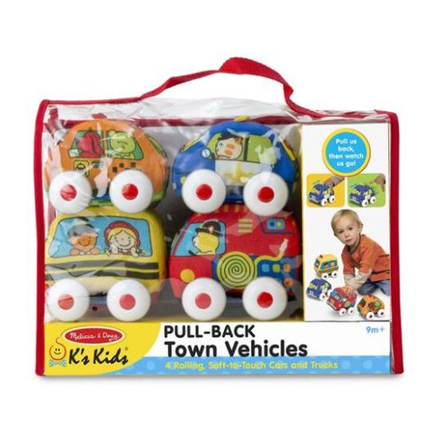 Pull-Back Town Vehicles 4pc