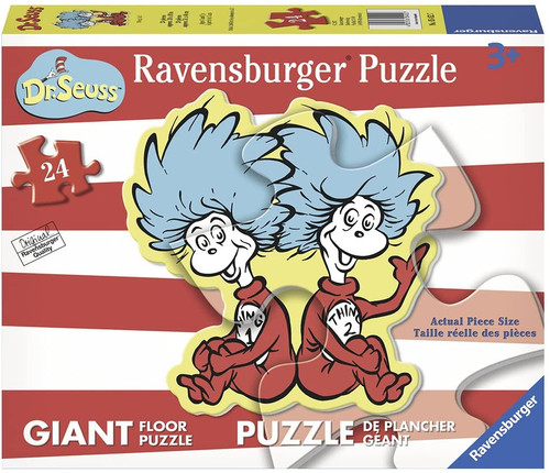 Dr. Suess Thing 1 & Thing 2 24 Piece Floor Puzzle