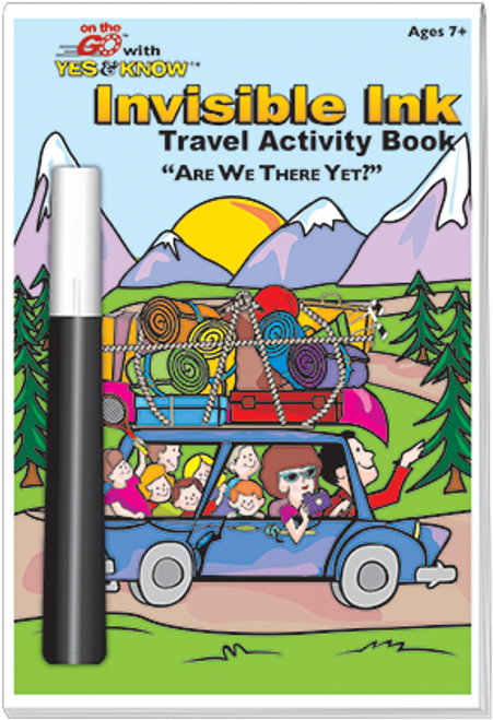 Magic Ink Fun Travel Activity Book Are We There Yet?