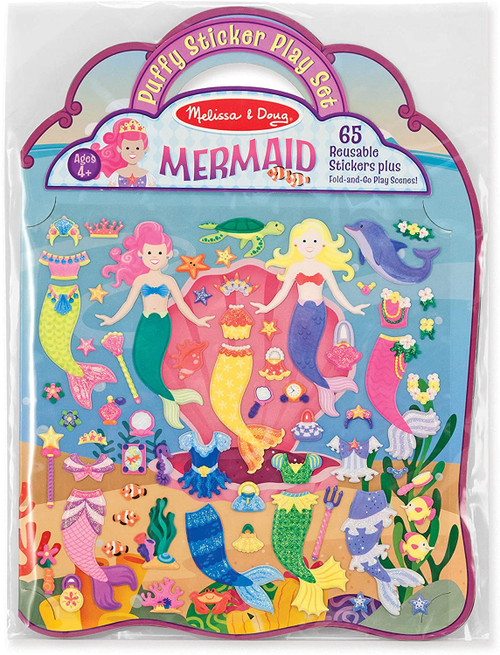 Reusable Puffy Stickers Mermaids
