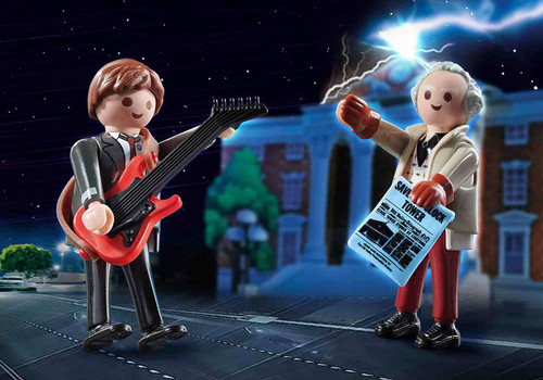 Back To The Future Marty Mcfly and Dr. Emmet Brown