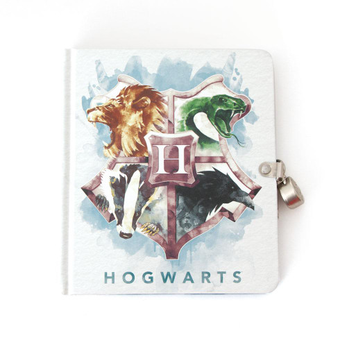 Harry Potter Watercolor Crest Diary