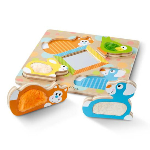 First Play Wooden Touch and Feel Puzzle 4pc
