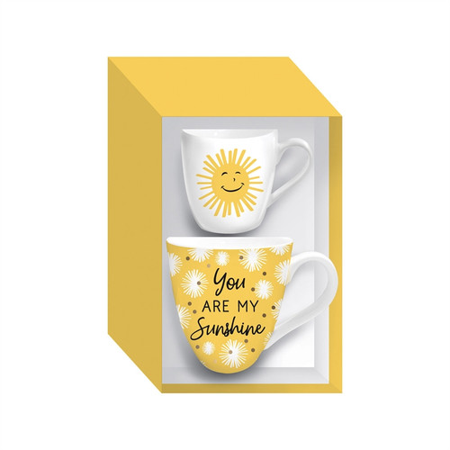Mommy and Me Ceramic Cup Gift Set You Are My Sunshine