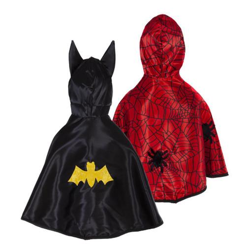Reversible Spider Bat Toddler Cape Size 2-3