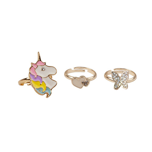 Boutique Butterfly & Unicorn Ring 3 pieces