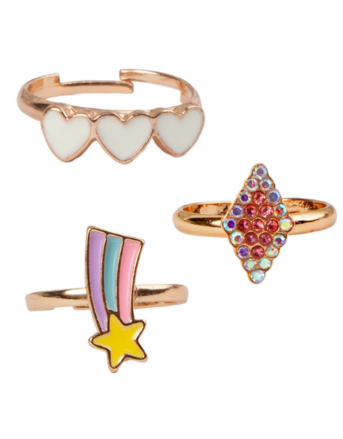 Boutique Heart Star Rings 3 pieces