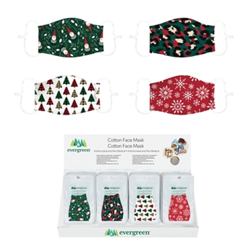 Adult Non-Medical Cotton Face Mask Holiday Designs