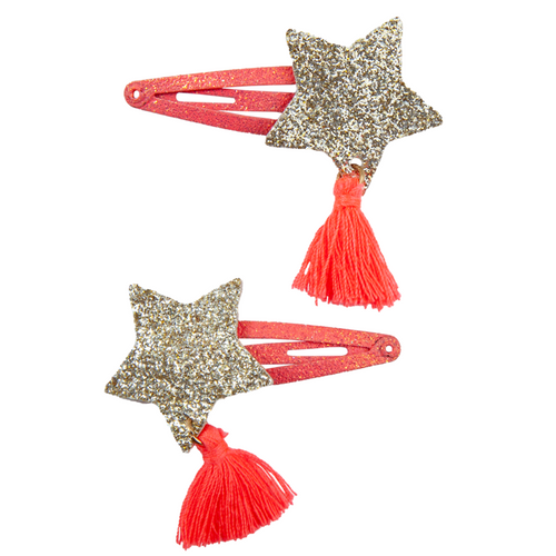 Boutique Sassy Tassy Star Hairclips 2 pieces