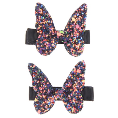 Boutique Rockstar Butterfly Hairclips 2 piece