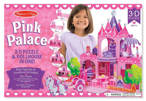 Pink Palace Puzzle Playset