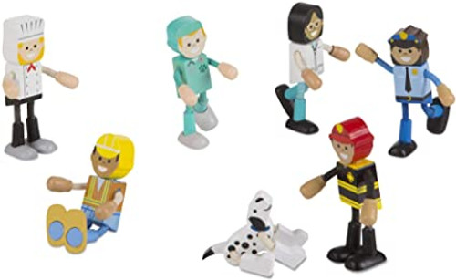 Wooden Flexible Figures Careers