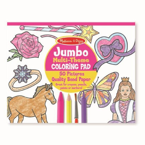 Jumbo Colouring Pad Horses, Hearts, Flowers and More