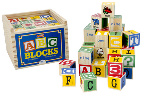 Alphabet Blocks 48 Pieces