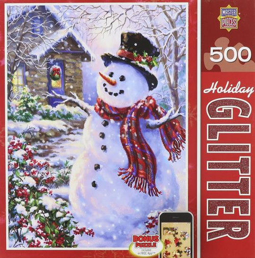 Let It Snow Snowman Holiday Glitter 500 piece